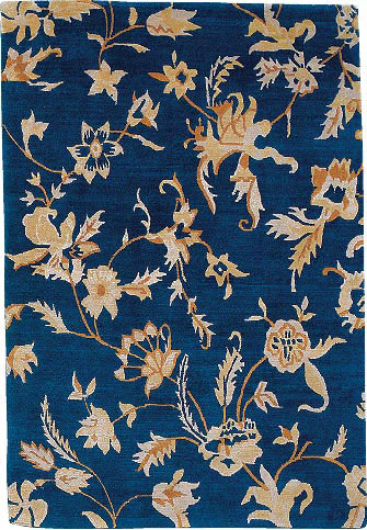 Toile Blue Tiger Rug