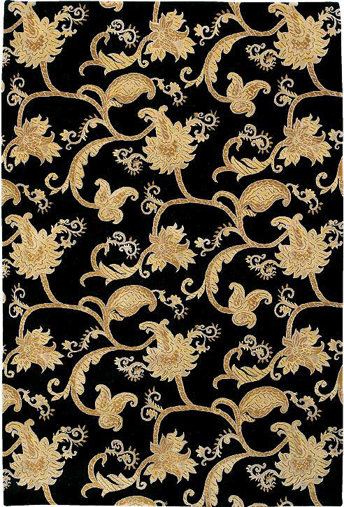 Brocade Scroll Black