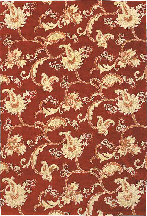 Brocade Scroll Red
