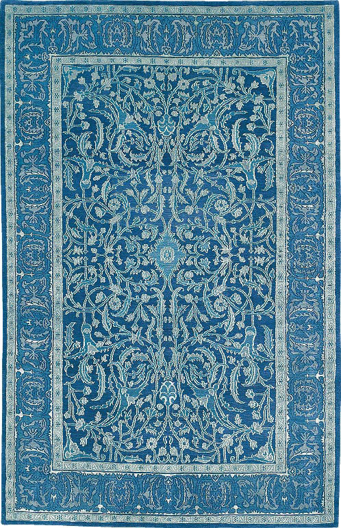 Emerald Isle Ice Blue Tiger Rug